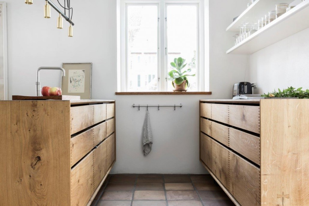 Model Dinesen Bespoke Wooden Kitchen With Steel Tabletop