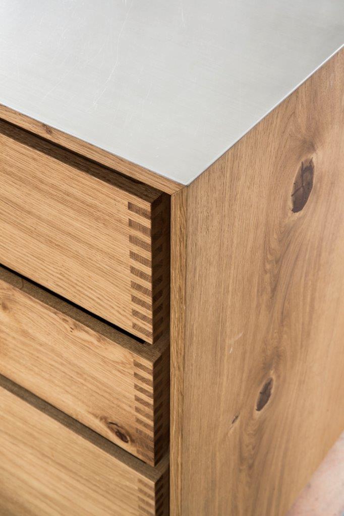 Model Dinesen Bespoke Wooden Kitchen With Steel Tabletop