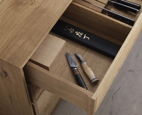Model Dinesen Bespoke Wooden Kitchen With Browned Brass