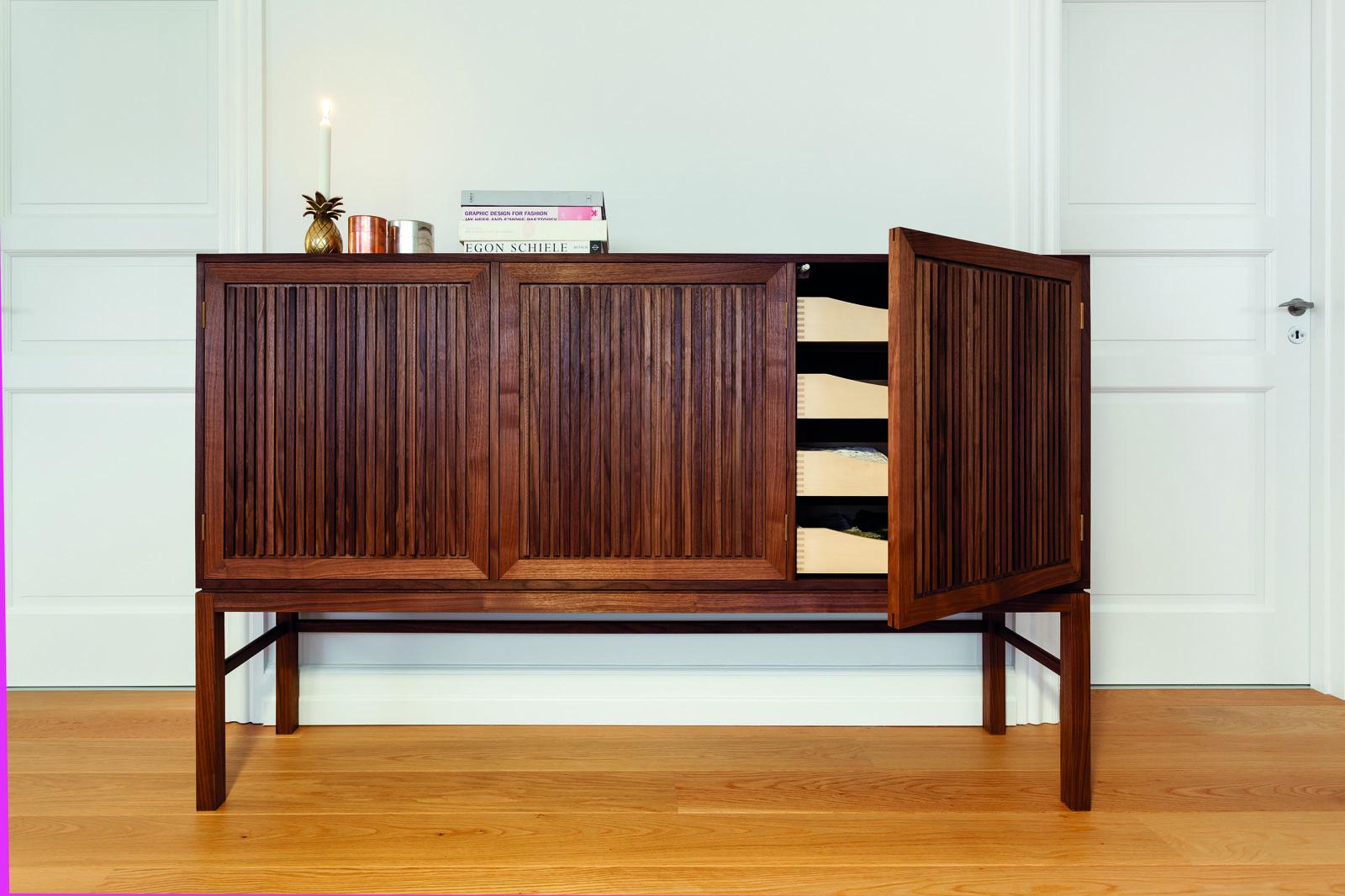 solid wooden cupboard in american walnut by nordic hands